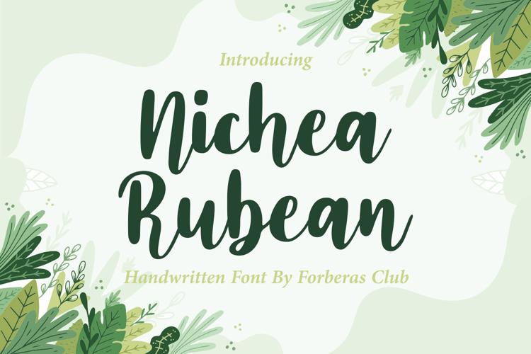 Nichea Rubean Font