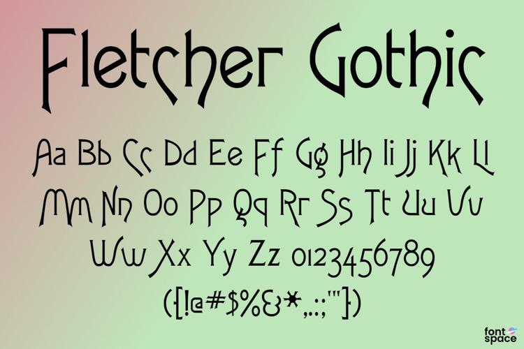 Fletcher Gothic FLF Font