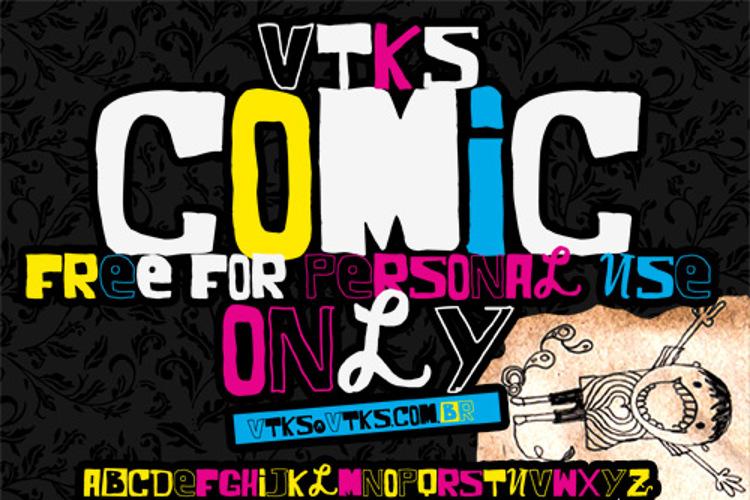 VTKS COMIC Font