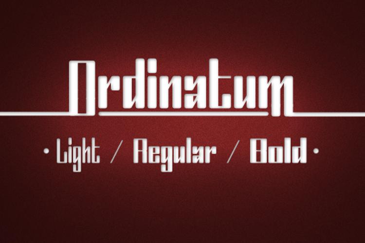 Ordinatum Font