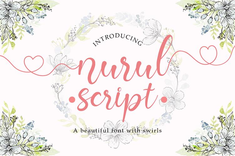 Nurul Script Font