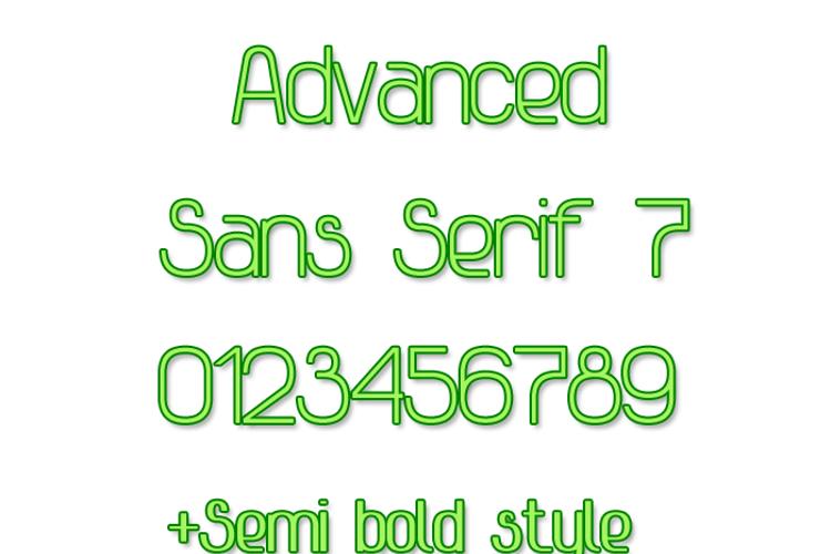 Advanced Sans Serif 7 Font