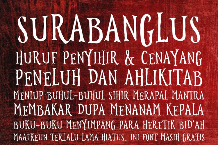 Surabanglus Font