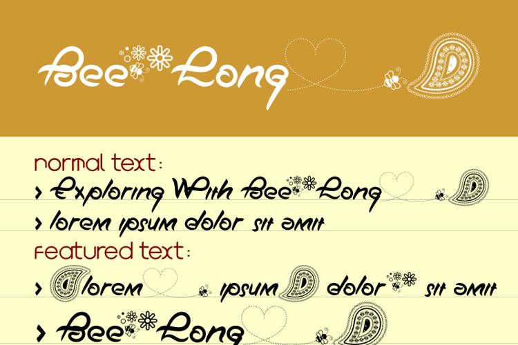 Bee Long Font