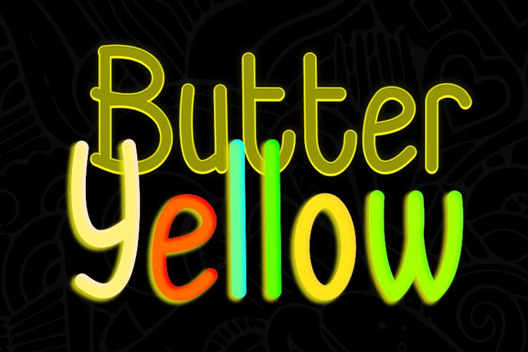 Butter Yellow Font