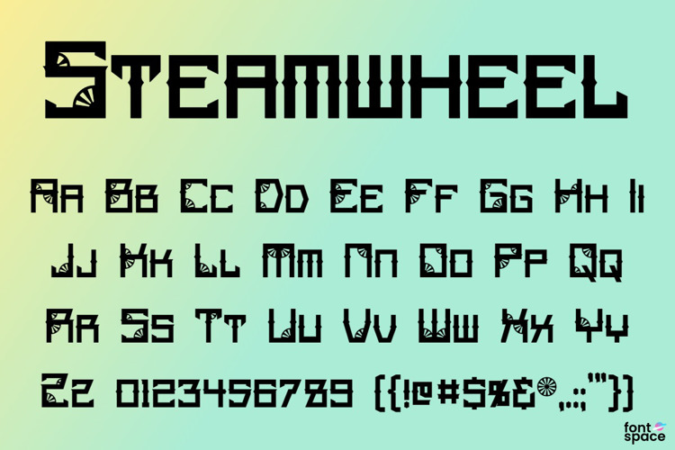 Steamwheel Font