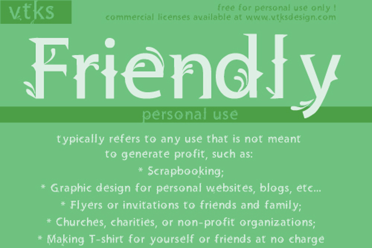 Vtks Friendly Font