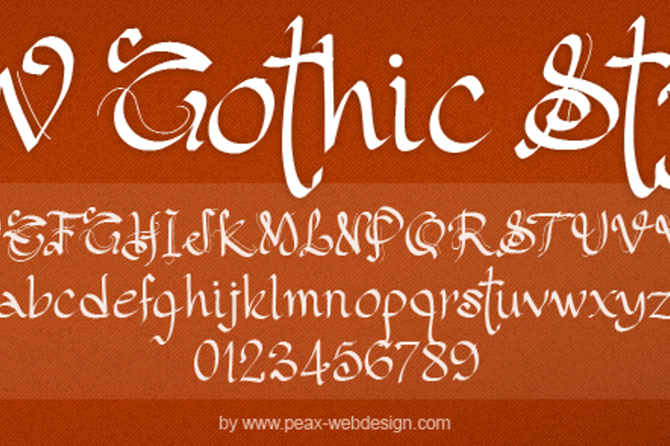 PW Gothic Style Font