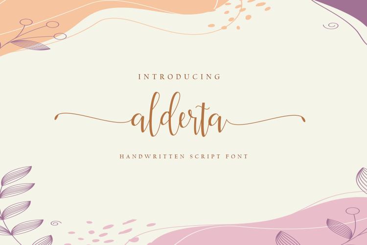 Alderta Font