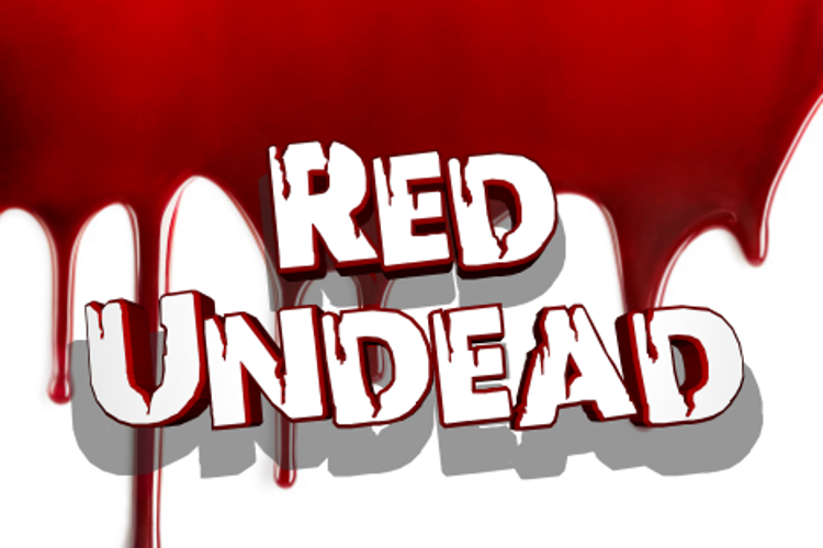 Red Undead Font