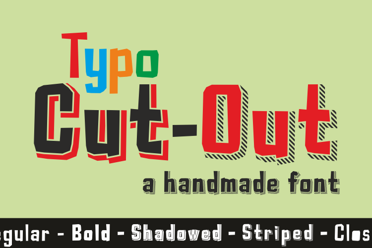 Typo Cut-Out Font
