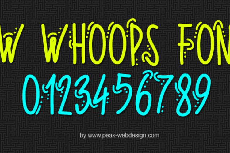 PWWhoops Font