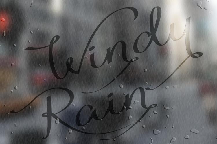 Windy Rain Demo Font