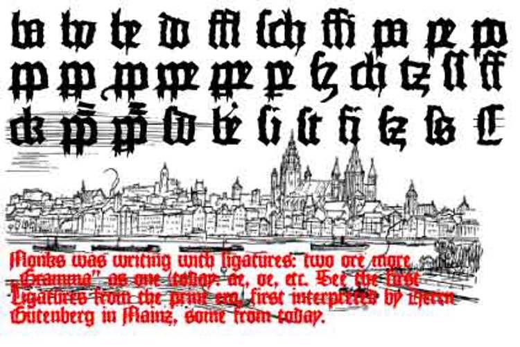 MonksWriting Font