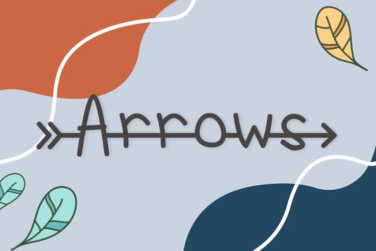 Arrows Font