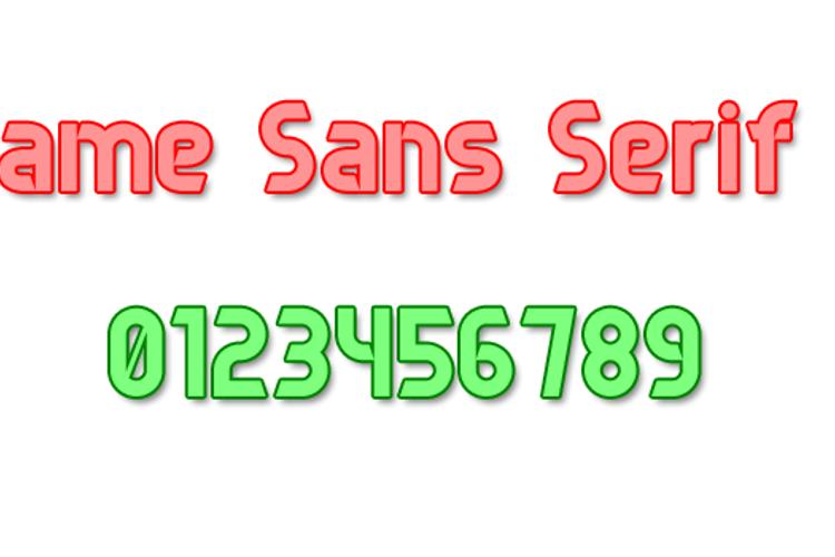 Game Sans Serif 7 Font