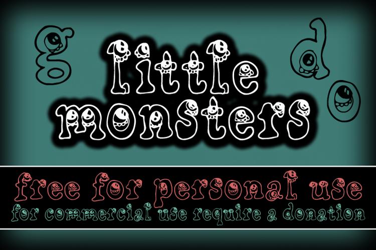 CF Little Monsters Font