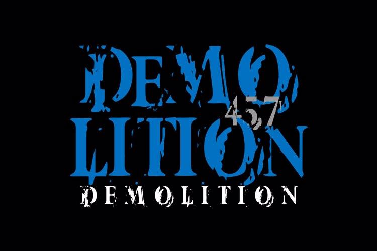 Vtks Demolition Font