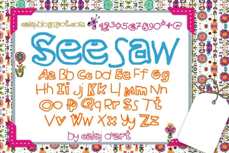 Seesaw Font