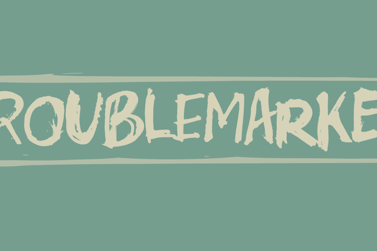 Troublemarker DEMO Font