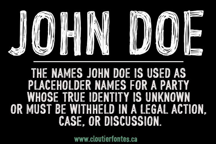 CF John Doe Font