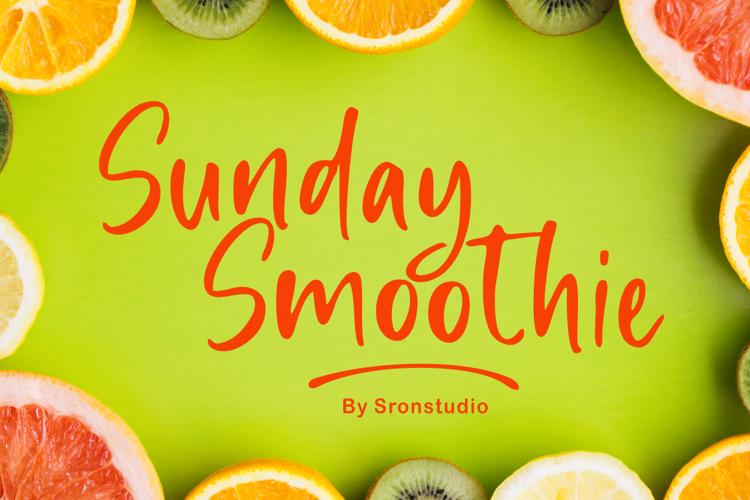 Sunday Smoothie Font