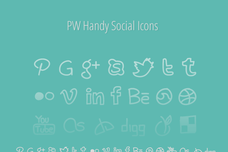 PWHandySocialIcons Font