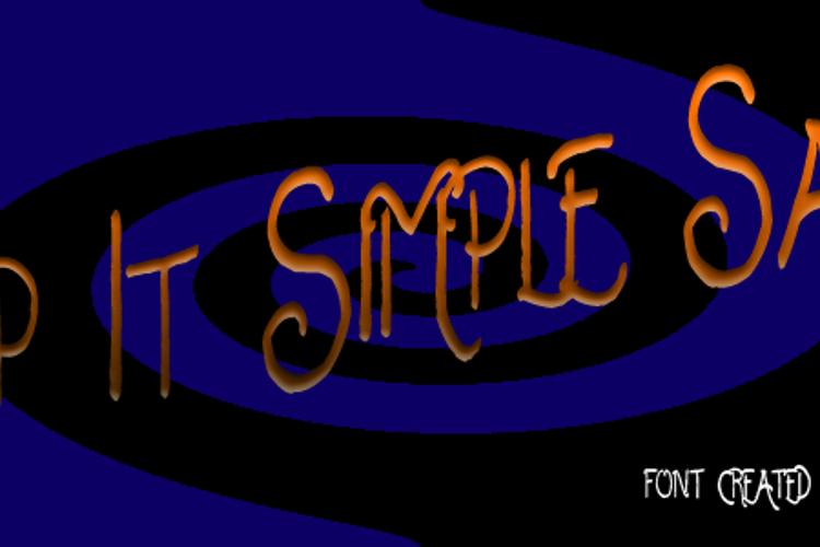Keep It Simple Sally Font