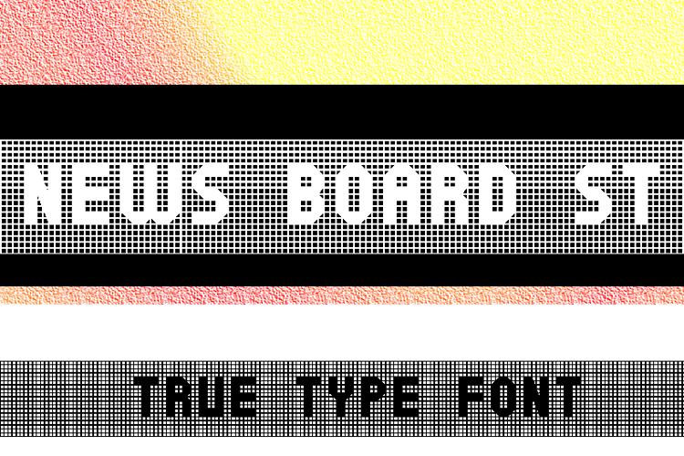News Board St Font