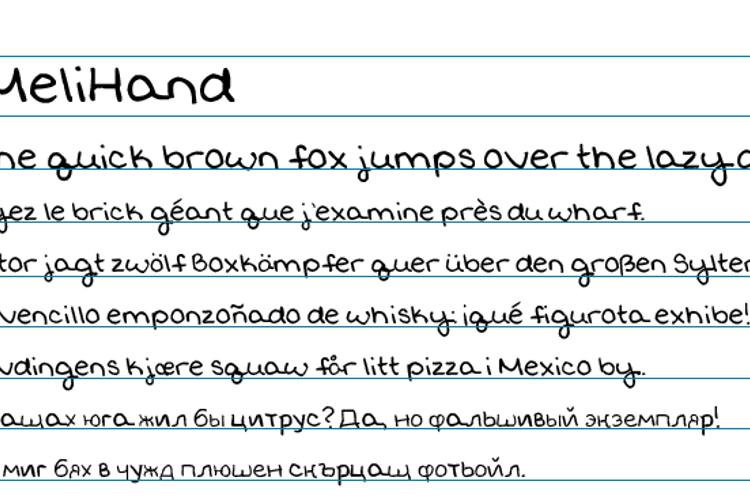MeliHand Font