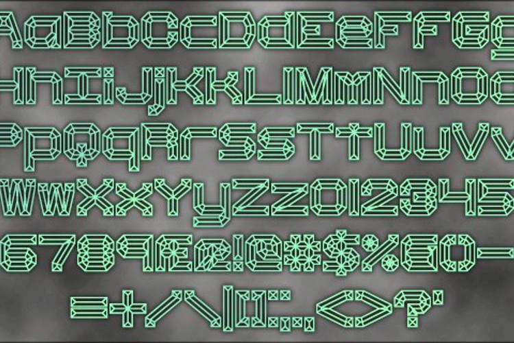 Heavy Bevel BRK Font