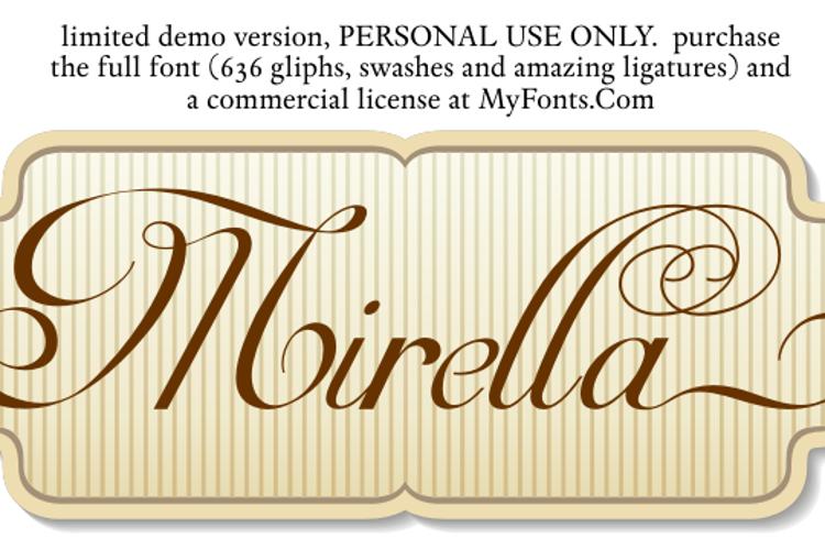 Mirella Script Limited Free Ver Font
