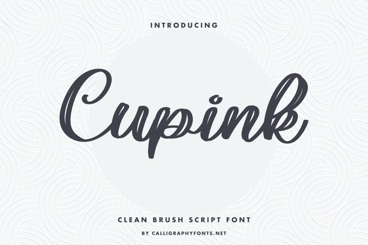 Cupink Font