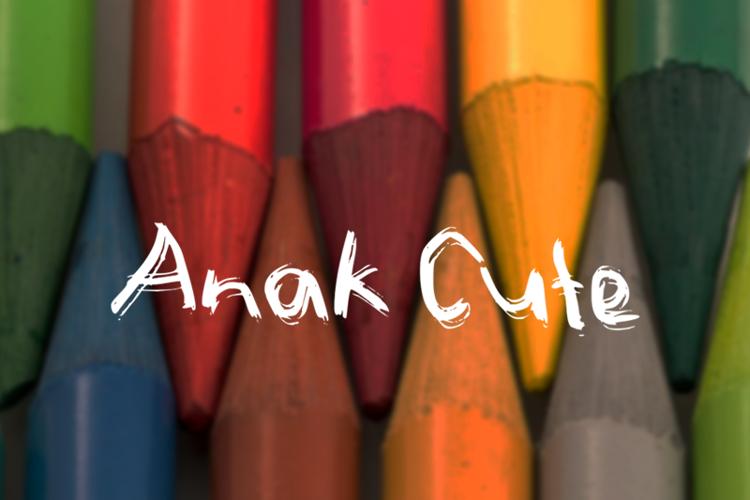 a Anak Cute Font