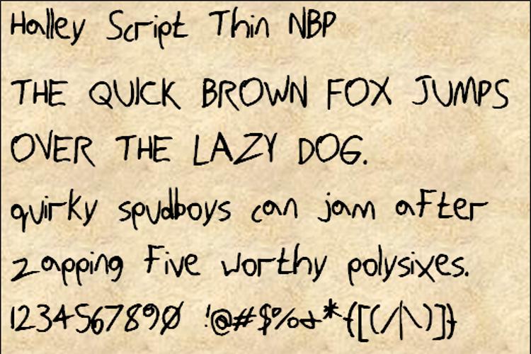 HalleyScriptThinNBP Font