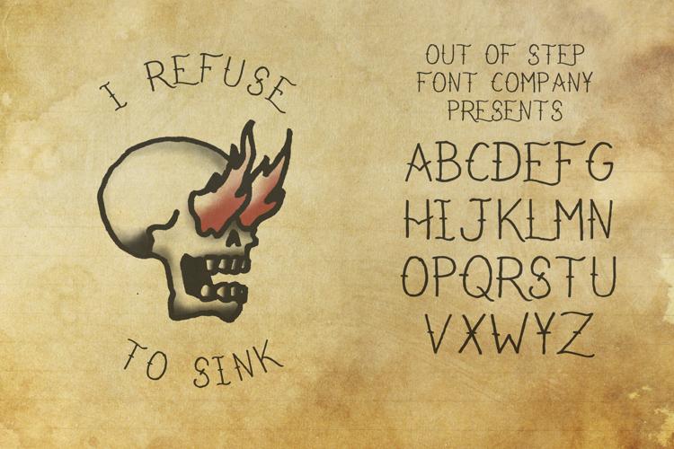 I Refuse To Sink Font