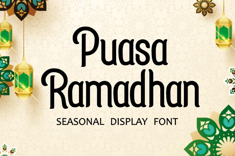 Puasa Ramadhan Font