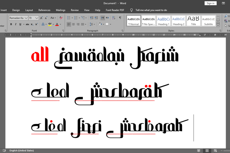 all Ramadan Karim Font