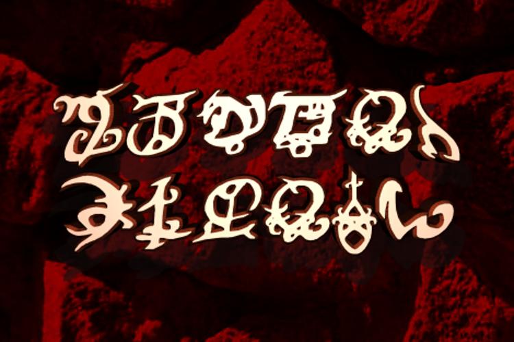 Devil's Tongue Font