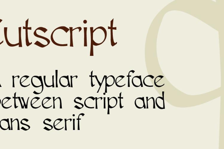 Cutscript Font