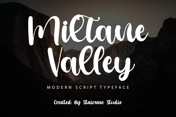 Miltane Valley Font