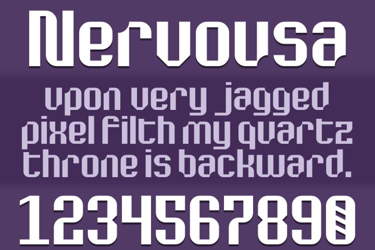 Nervousa Font