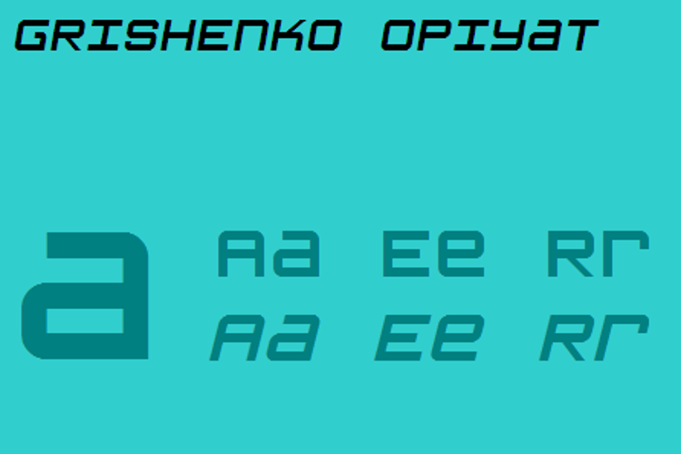 Grishenko Opiyat NBP Font