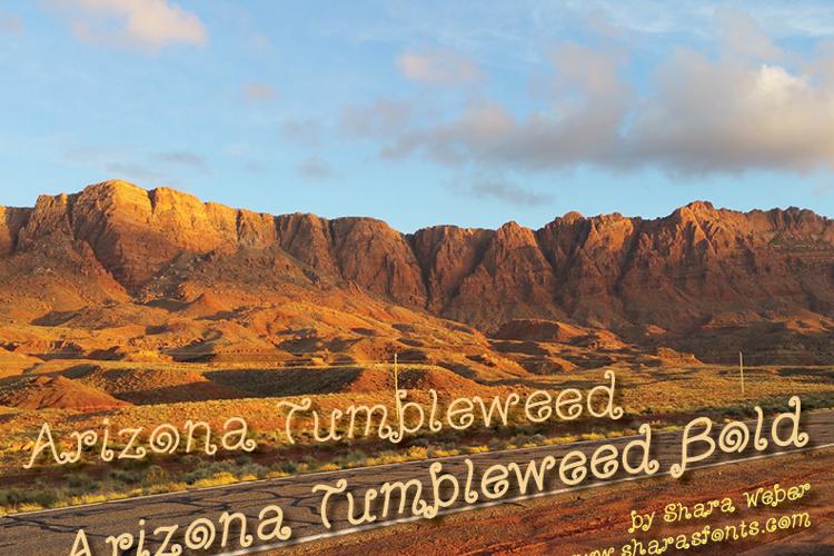 Arizona Tumbleweed Font