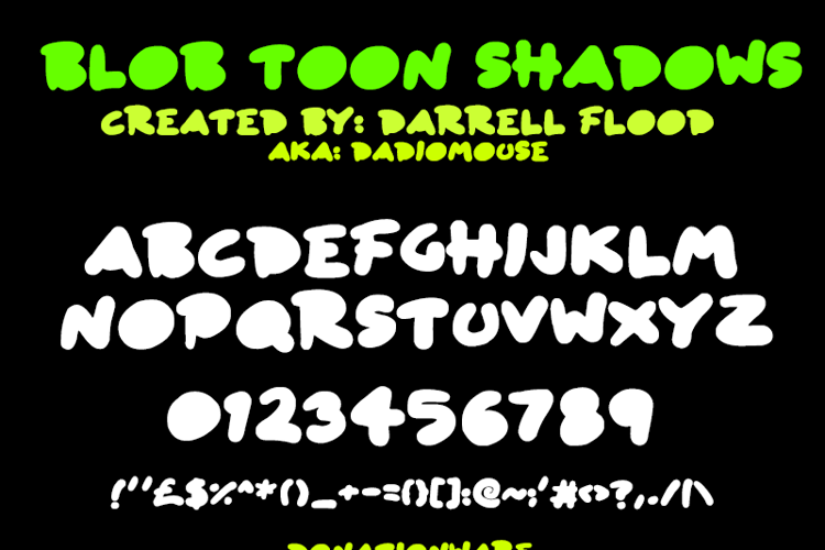 Blob Toon Shadows Font