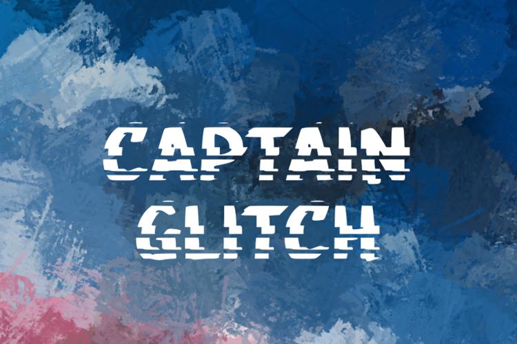 c Captain Glitch Font