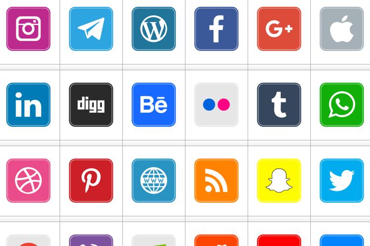Icons Social Media 7 Font