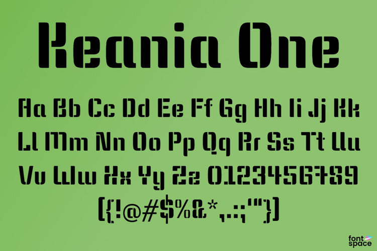 Keania One Font