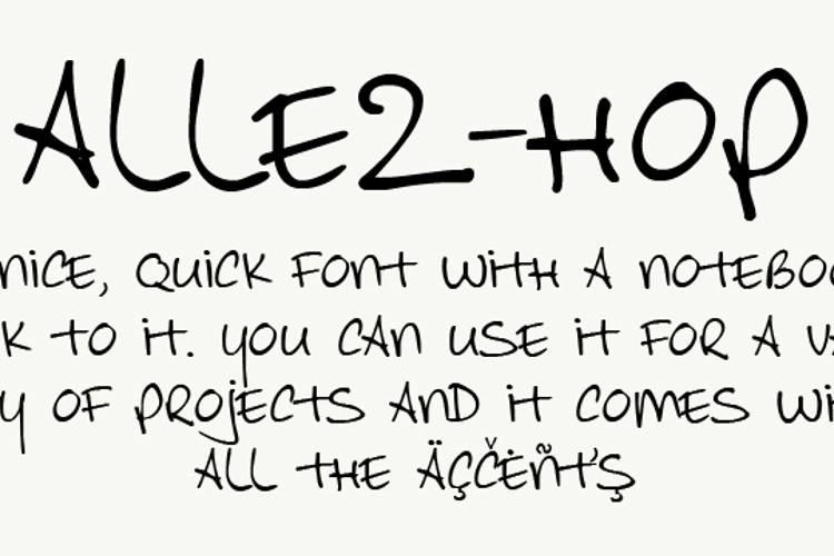 Allez Hop Font
