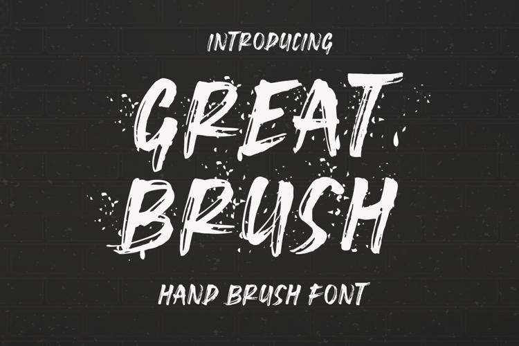Great Brush Font